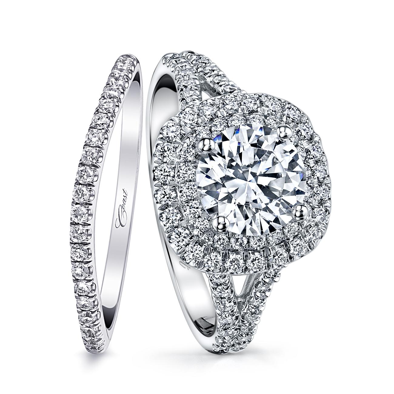 Charisma Engagement Ring - Double Halo