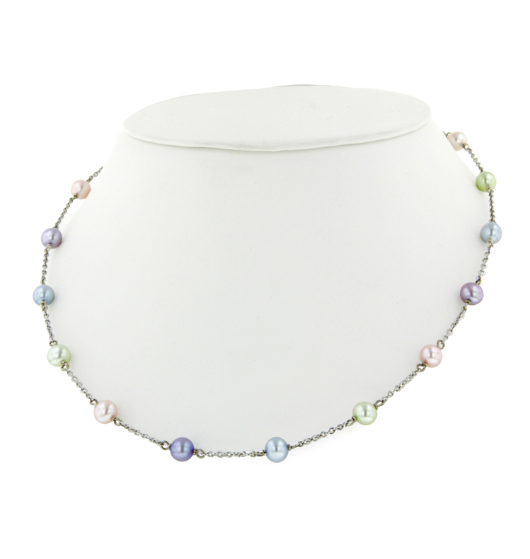 Sterling Silver 5.5-6MM Potato Candy Collection Freshwater Cultured Pearl 15 Necklace