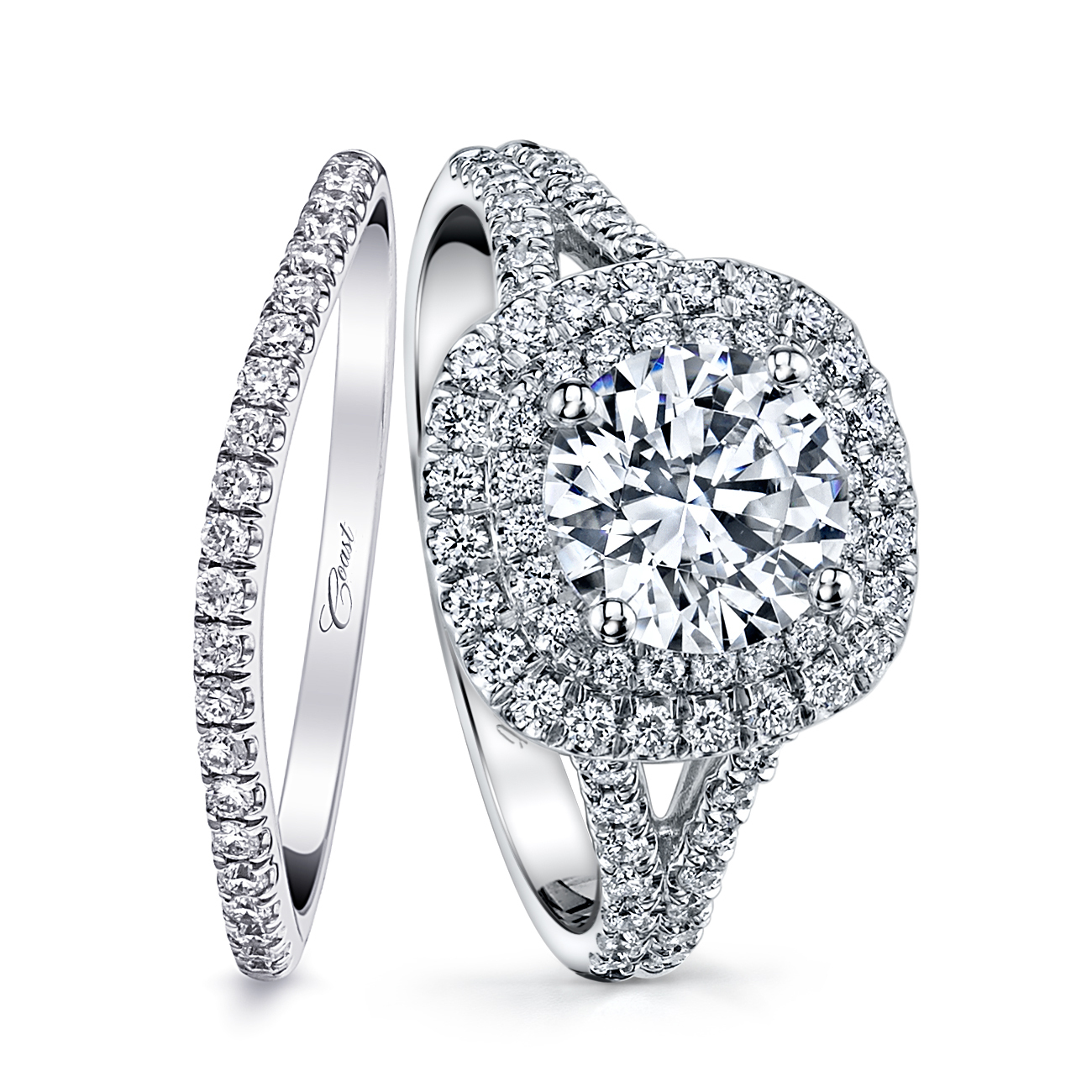 Charisma Engagement Ring - Double Halo