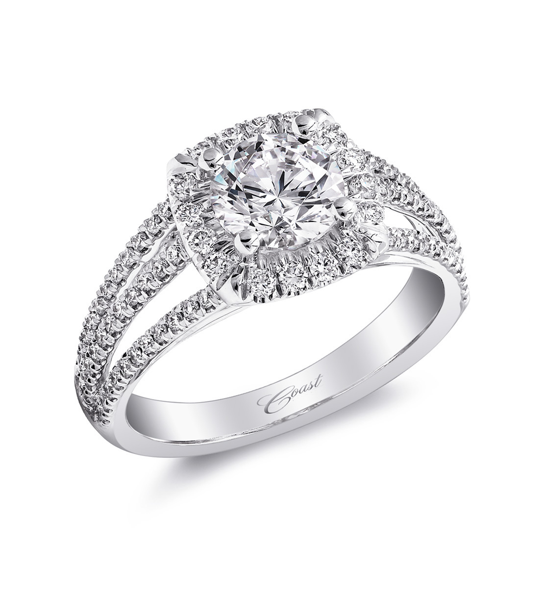 Charisma Engagement Ring - Triple Split Shank
