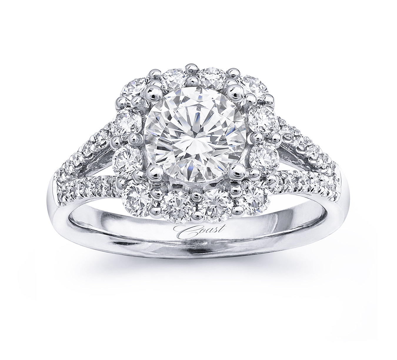 Charisma Engagement Ring - Large Cushion Halo