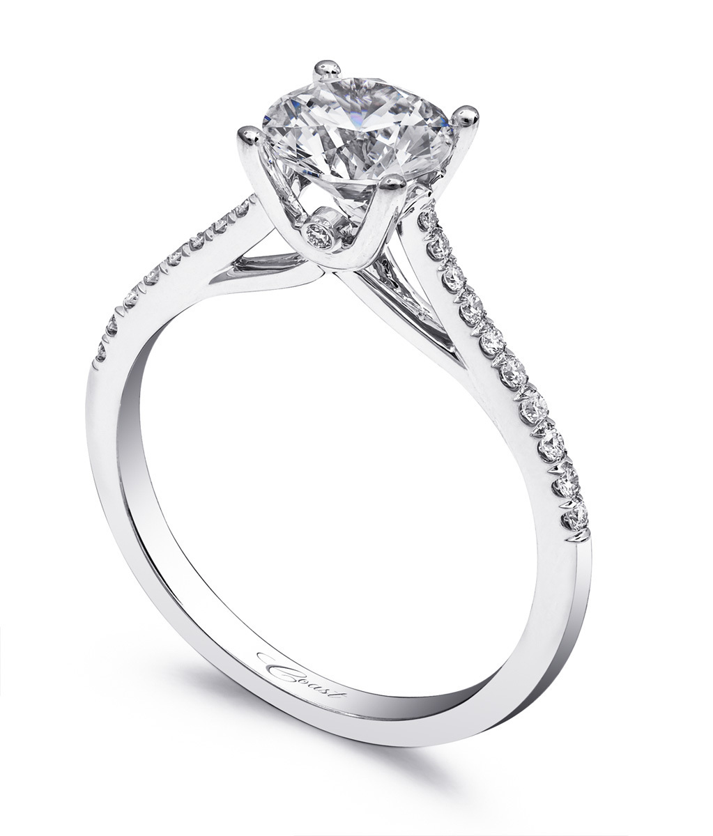 Charisma Engagement Ring - Classic, Petite Diamonds