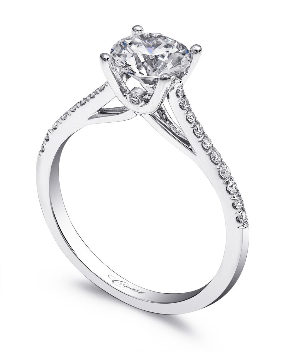 Charisma Engagement Ring - Classic, Petite Diamonds
