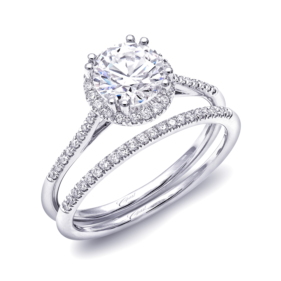 Charisma Engagement Ring - Petite Round Halo