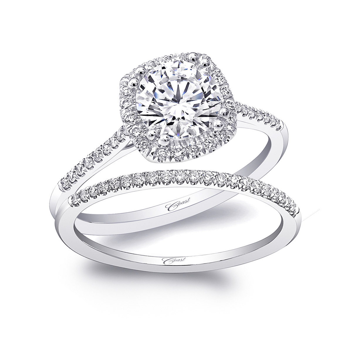 Charisma Engagement Ring - Petite Cushion Halo