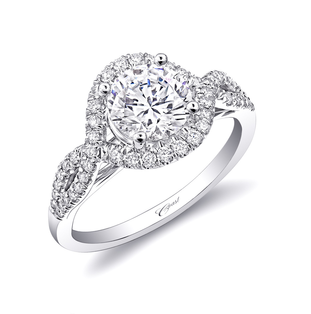 Charisma Engagement Ring - Unique Twist Design