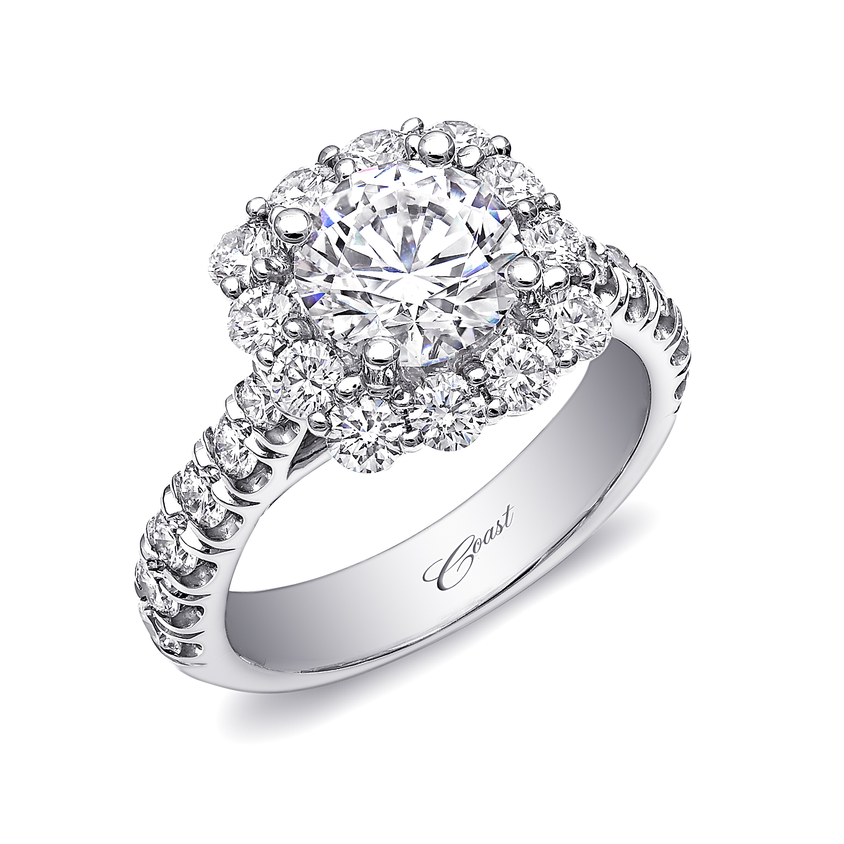Charisma Engagement Ring - Large Cushion-shaped Diamond Halo